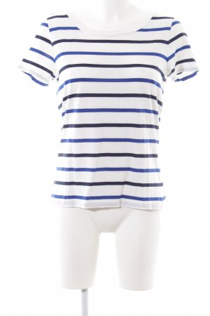 COS U-Boot-Shirt weiß-blau Streifenmuster Casual-Look