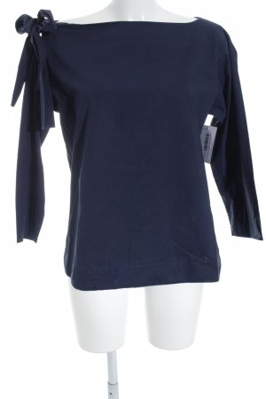 COS Boatneck Shirt dark blue simple style