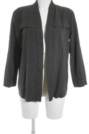COS Unisex blazer donkergrijs gestippeld zakelijke stijl