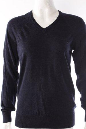 COS V-Ausschnitt-Pullover blau-meliert