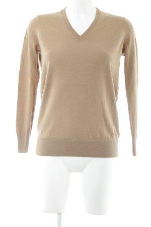 COS V-Ausschnitt-Pullover wollweiß Business-Look