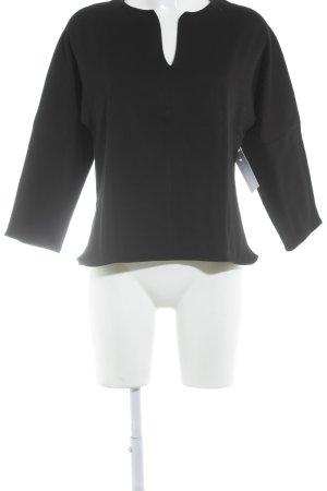 COS V-Ausschnitt-Pullover schwarz Casual-Look