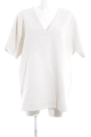 COS Camisa con cuello V blanco puro estilo «business»