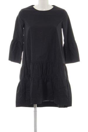 COS Volante jurk zwart casual uitstraling