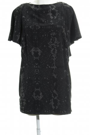 COS Flounce Dress black-green grey graphic pattern Aztec print