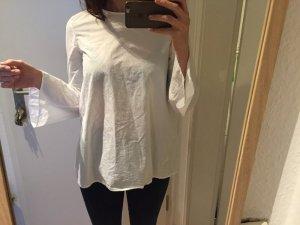 Cos weiße schlichte Bluse mit Glockenärmel Oberteil Schlupfbluse