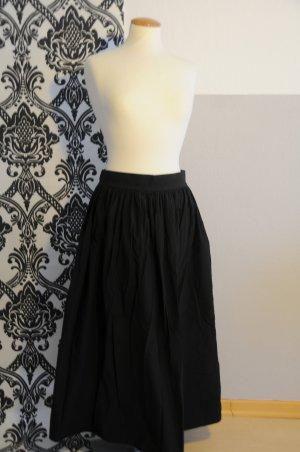 COS Midi Skirt black cotton