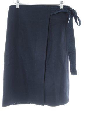 COS Wraparound Skirt dark blue minimalist style