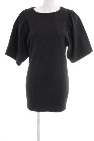 COS Wollen jurk antraciet extravagante stijl