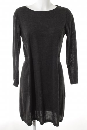COS Woolen Dress anthracite flecked casual look