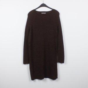 COS Wollen jurk donkerbruin Wol