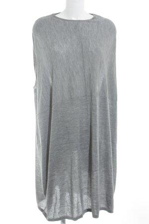 COS Vestito di lana grigio-grigio chiaro puntinato stile casual