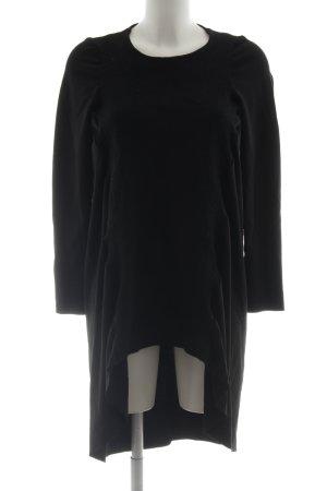 COS Wollen jurk zwart extravagante stijl
