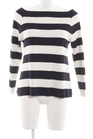 COS Jersey de lana blanco-negro estampado a rayas look casual