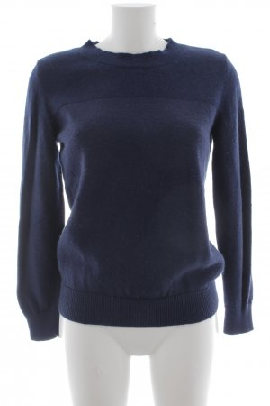 COS Wollpullover dunkelblau Business-Look