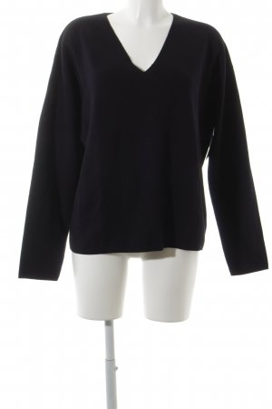 COS Wollpullover dunkelblau Casual-Look