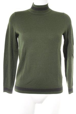 COS Wollpullover dunkelgrün-anthrazit schlichter Stil