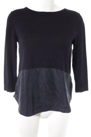 COS Wollpullover schwarz-dunkelblau Casual-Look