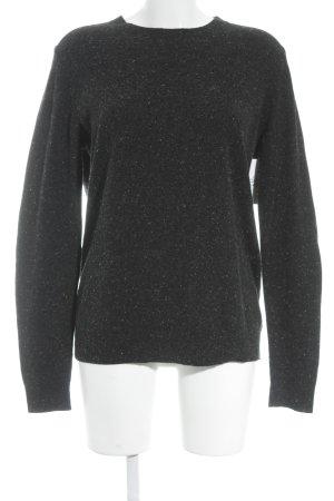 COS Maglione di lana nero-bianco Motivo schizzi di pittura stile semplice