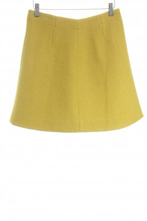 COS Wool Skirt dark yellow fluffy