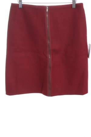 COS Wool Skirt dark red classic style