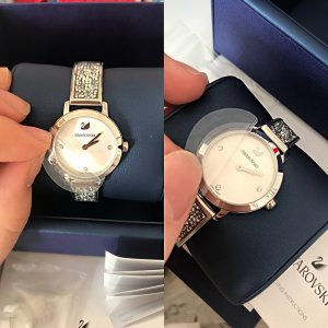Swarovski Watch With Metal Strap silver-colored
