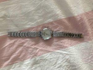 Cosmic rock Uhr, metallarmband, weiß silberfarben
