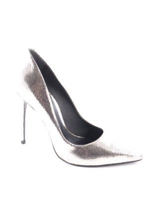 Cosmoparis High Heels goldfarben Metallic-Optik