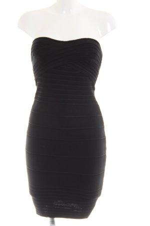 Costa Blanca Vestido bandeau negro elegante