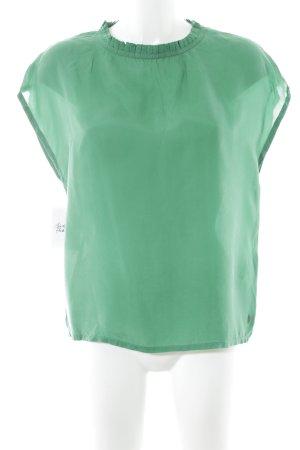 Coster Copenhagen Kurzarm-Bluse grün Casual-Look