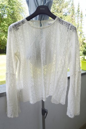 Costes Lace Blouse white-natural white