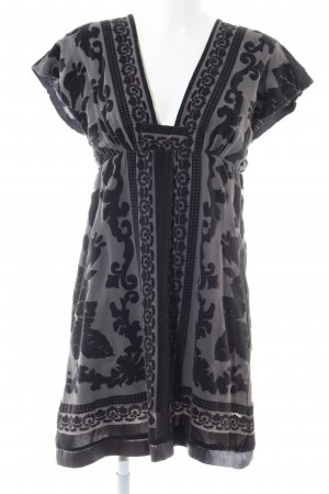 Costes Tunic Dress black-light grey abstract pattern casual look