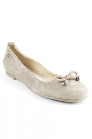 Costume National Ballerinas mit Spitze beige Casual-Look