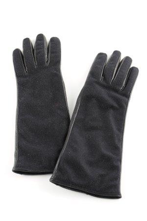 Costume National Guantes con dedos negro estilo clásico