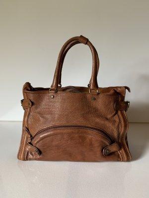 Costume National Carry Bag cognac-coloured
