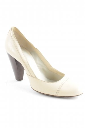 Costume National High Heels creme-braun Business-Look