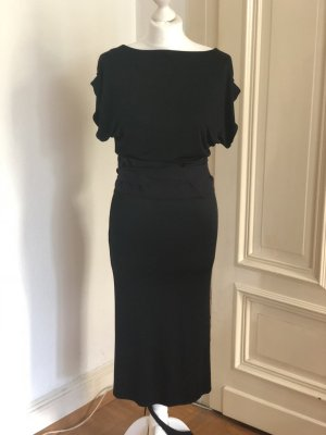 Costume National Kleid Dress Schwarz Wickelkleid