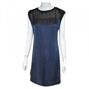 Costume National Kleid , Dunkelblau, Schwarz, Gr. 36