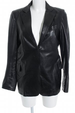 Costume National Leather Blazer black '90s style