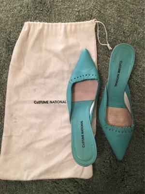 Costume National Heel Pantolettes turquoise