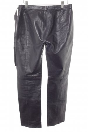 Costume National Lederhose braunviolett Biker-Look