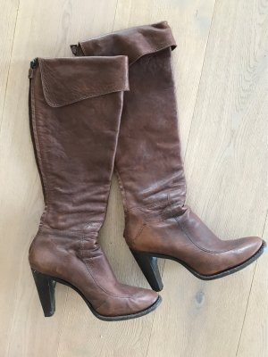 Costume National High Heel Boots cognac-coloured leather