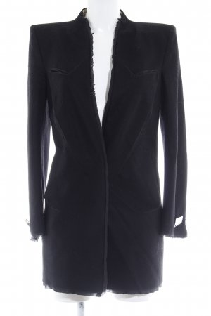 Costume National Long-Blazer schwarz-goldfarben Casual-Look