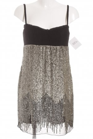Costume National Sequin Dress black-silver-colored party style