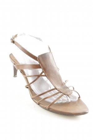 Costume National Strapped High-Heeled Sandals brown casual look