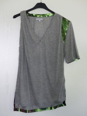 Costume National T-Shirt grau asymmetrisch Gr. S