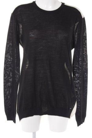 Costume National Wollpullover schwarz-wollweiß klassischer Stil