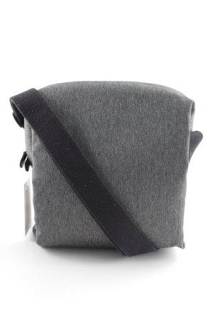 Coteetciel Stoffen tas grijs-zwart Lederen logo appliqué