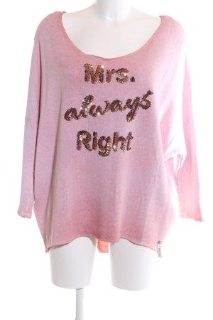 Cotton Candy Oversized trui roze prints met een thema casual uitstraling