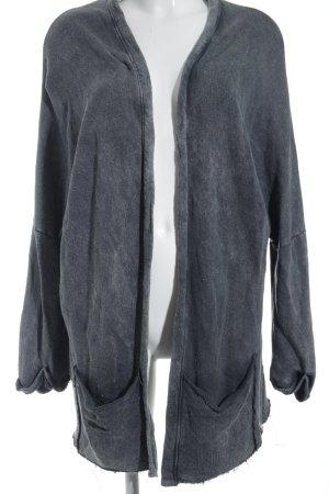 Cotton Candy Strick Cardigan anthrazit-grau Schriftzug gedruckt sportlicher Stil